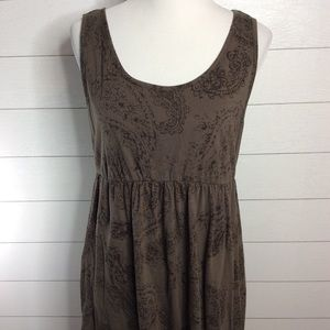 Brown Paisley Casual Dress
